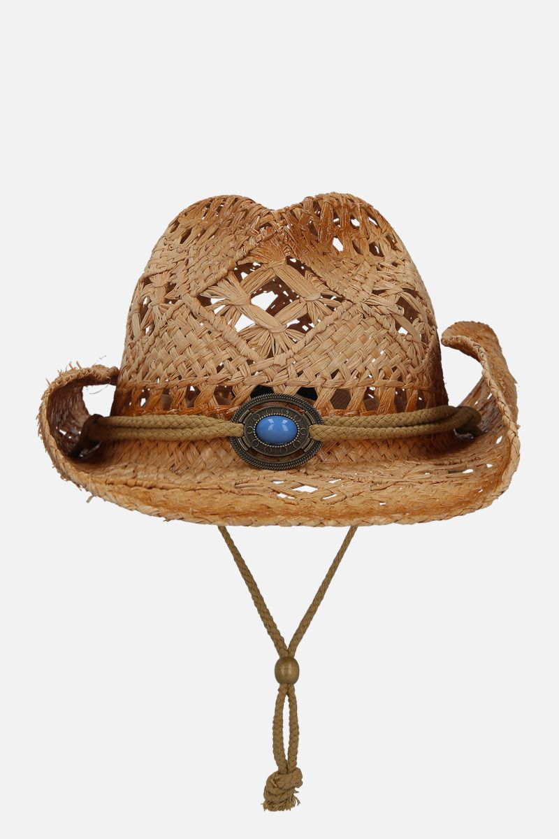 JESSIE WESTERN: straw western hat Color Neutral_1