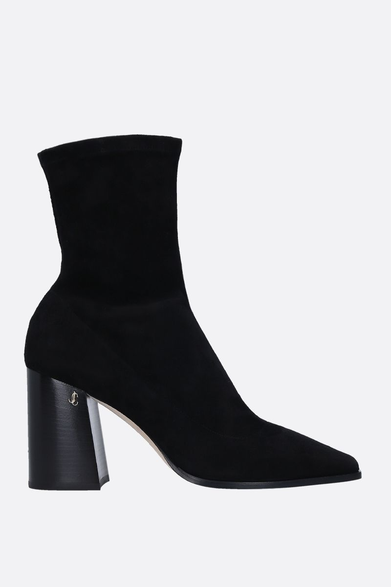 JIMMY CHOO: Bryelle ankle boots in stetch suede Color Black_1