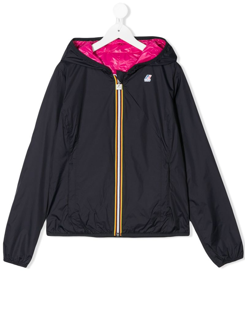 K-WAY KIDS: nylon reversible windbreaker Color Multicolor_1
