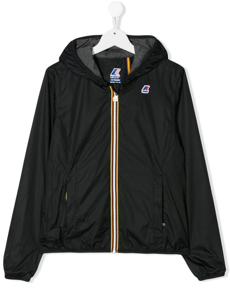K-WAY KIDS: Lily Poly nylon windbreaker Color Black_1