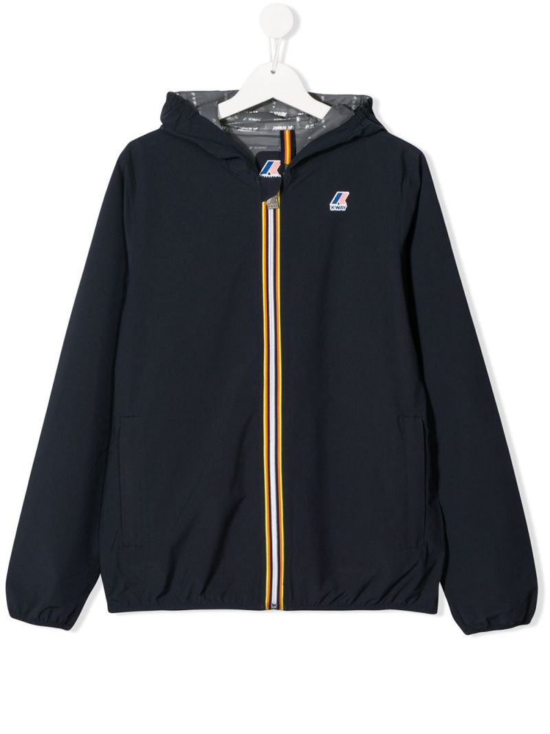 K-WAY KIDS: Jourdain technical fabric windbreaker_1