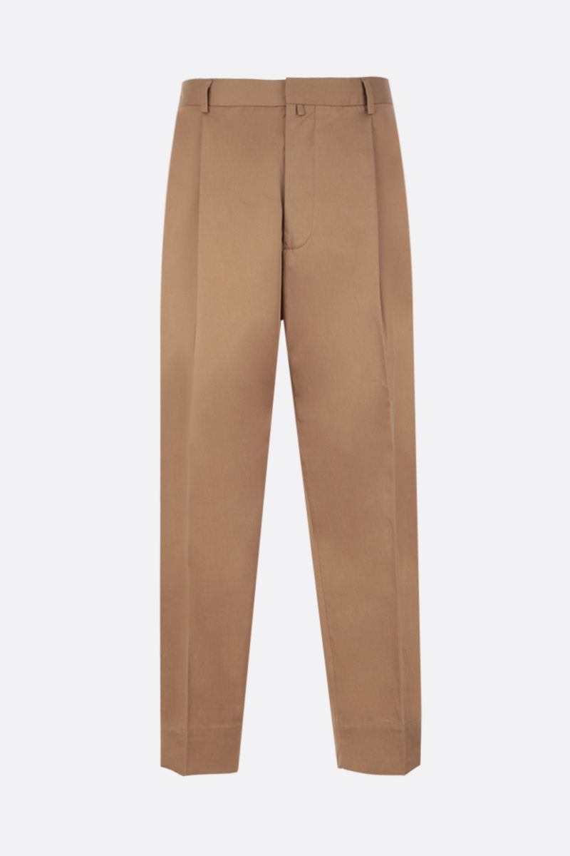 MAISON FLANEUR: cotton wide-leg pants Color Brown_1