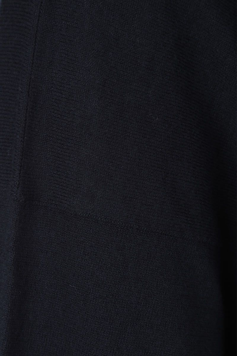 MAISON FLANEUR: oversized short-sleeve pullover in cotton cashmere blend Color Blue_5