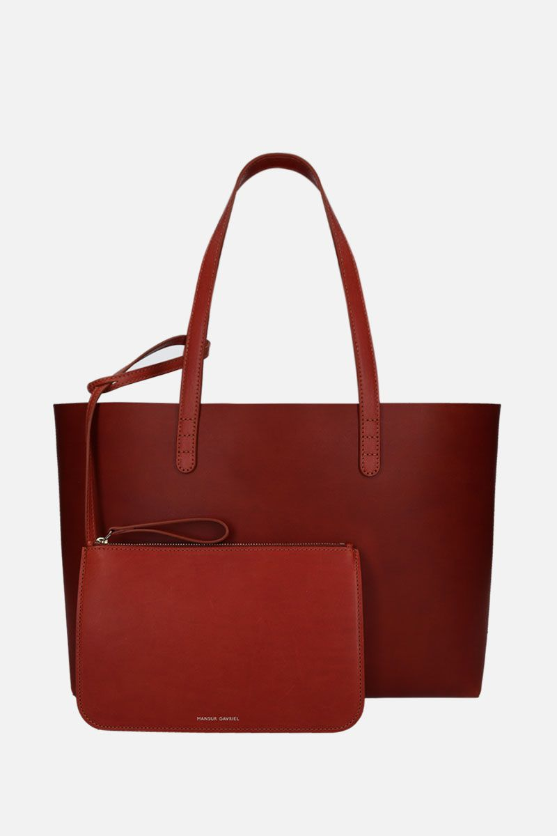 MANSUR GAVRIEL: small tote bag in smooth leather Color Brown_2