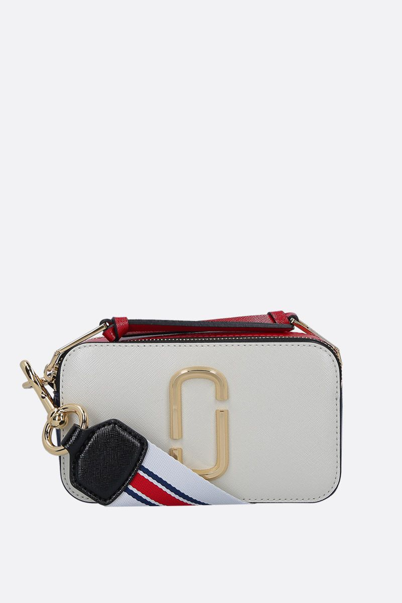 MARC JACOBS: Snapshot small camera bag in crossgrain leather_1