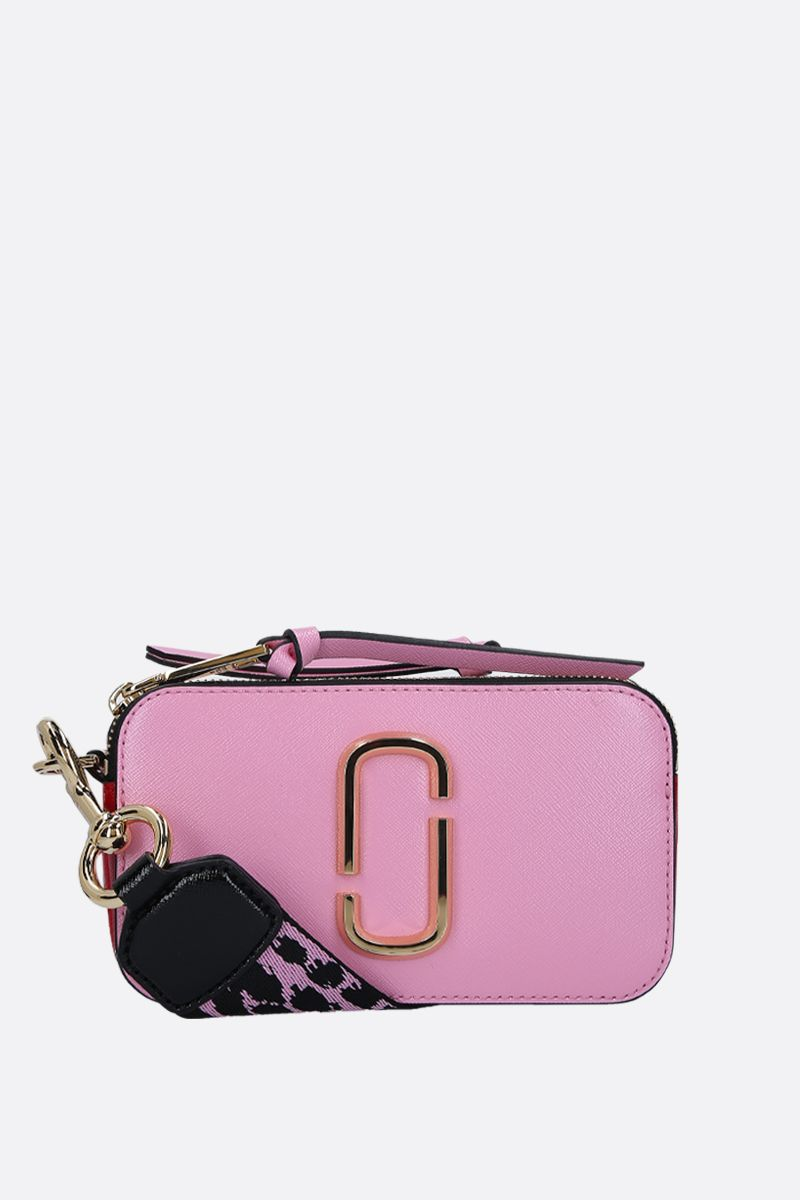 MARC JACOBS: borsa a tracolla Snapshot small in pelle crossgrain Colore Rosa_1