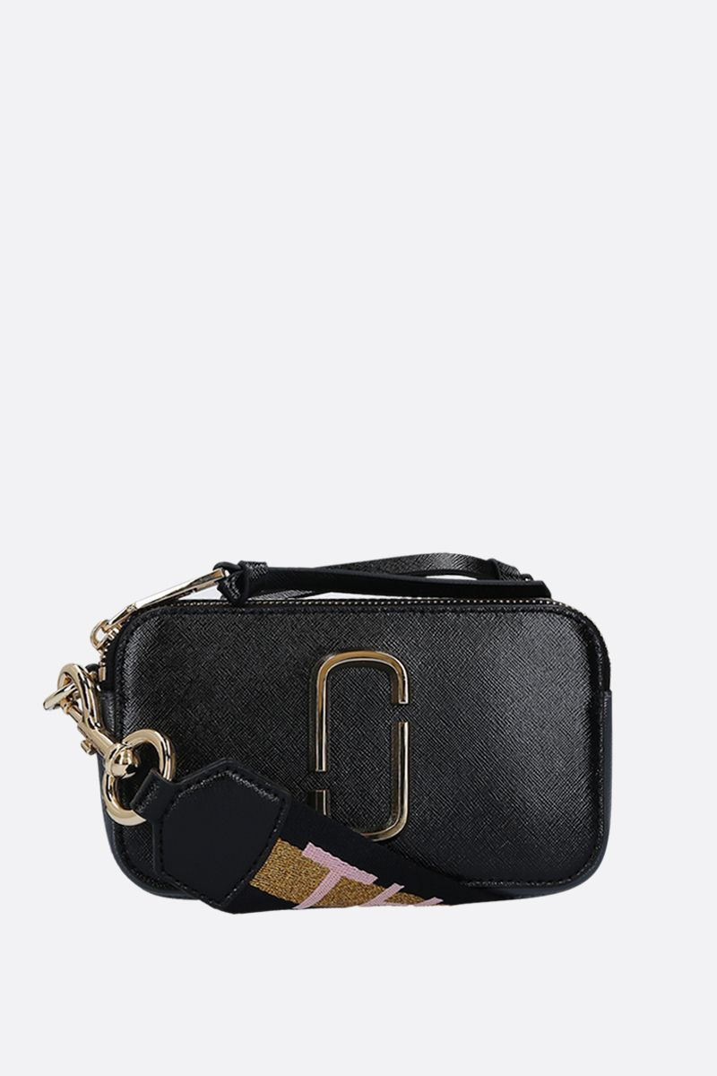 MARC JACOBS: borsa a tracolla Snapshot Small in pelle crossgrain_1