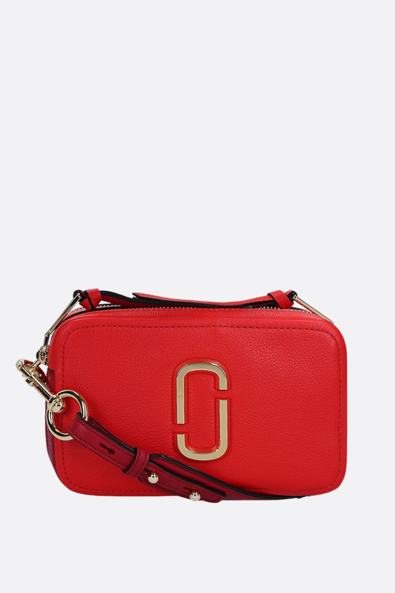 MARC JACOBS: borsa a tracolla The Softshot 21 in pelle martellata_1