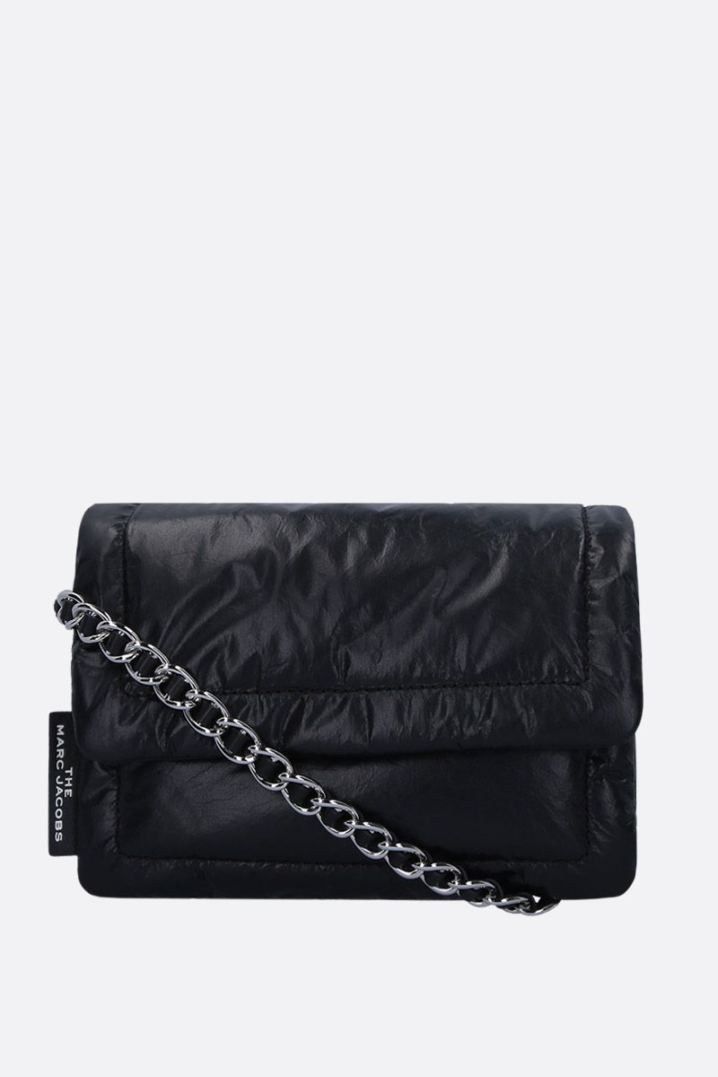 MARC JACOBS: The Mini Pillow crossbody bag in feather-light leather Color Black_1