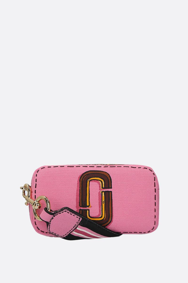 MARC JACOBS: Snapshot Trompe L'oeil crossbody bag in canvas Color Pink_1