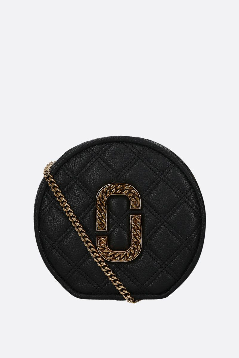 MARC JACOBS: The Status crossbody bag in quilted leather Color Black_1