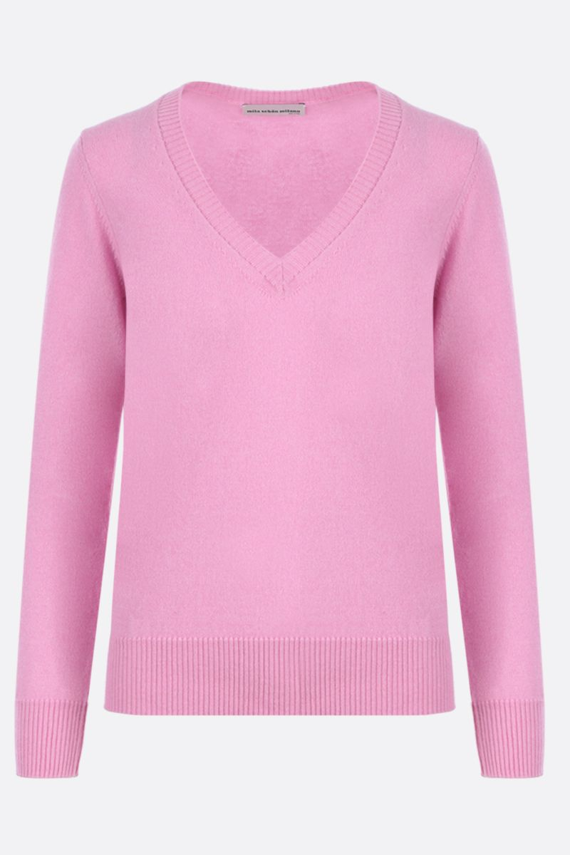 MILA SCHON: classic cashmere pullover Color Pink_1
