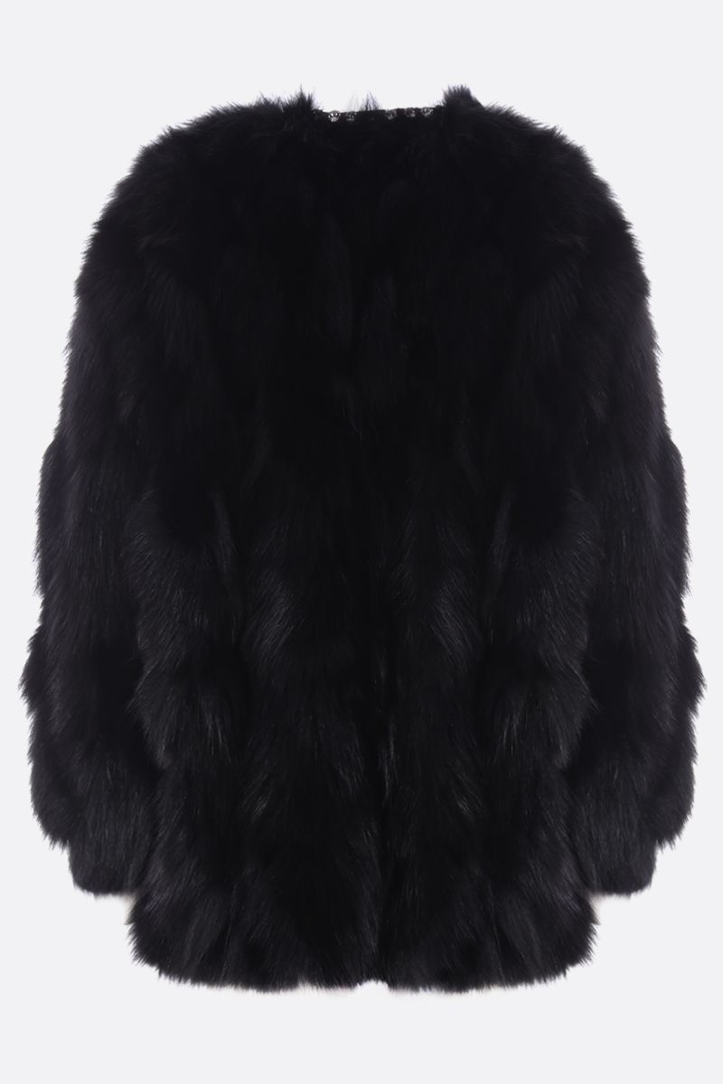 MIU MIU: fox fur coat Color Black_2