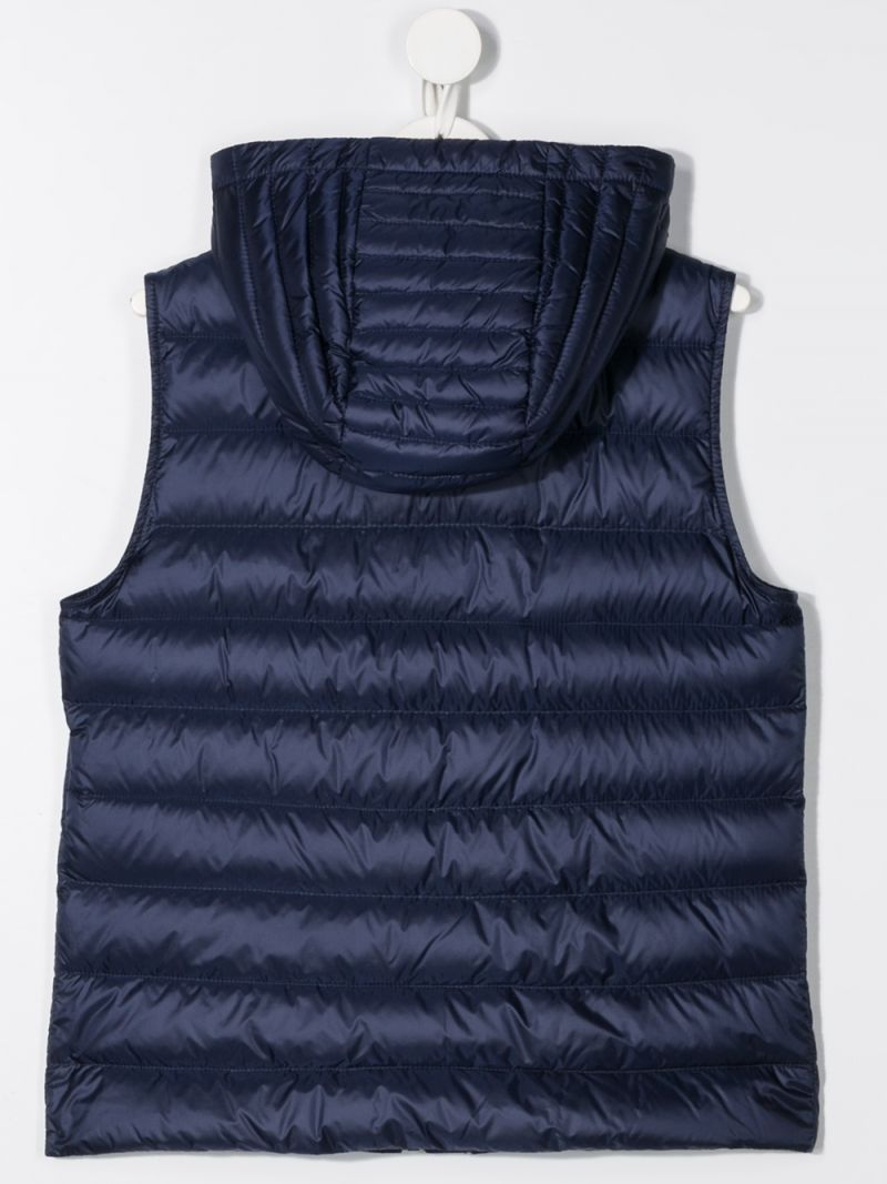 MONCLER KIDS: Christie sleeveless down jacket in nylon Color Blue_2