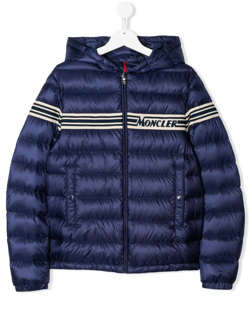 MONCLER KIDS: Renald nylon down jacket Color Blue_1