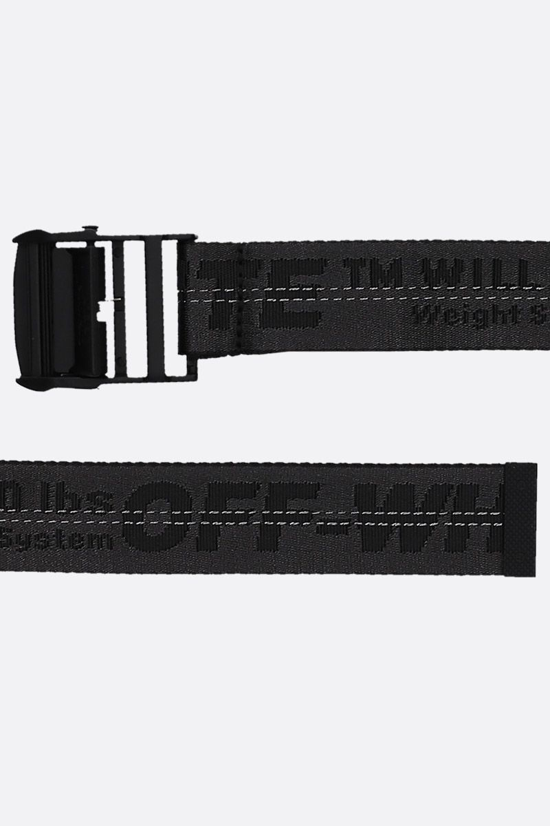 OFF WHITE: Classic Industrial belt Color Black_2