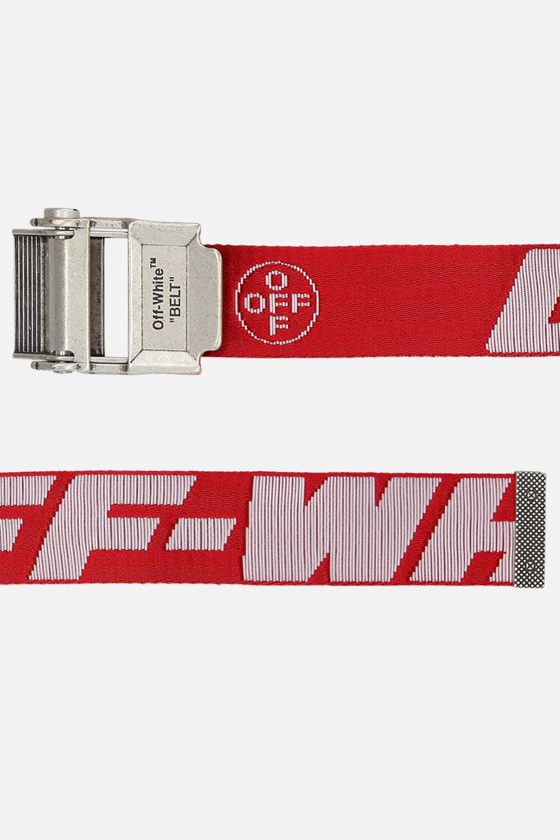 OFF WHITE: Industrial 2.0 belt in logoed fabric Color Multicolor_2