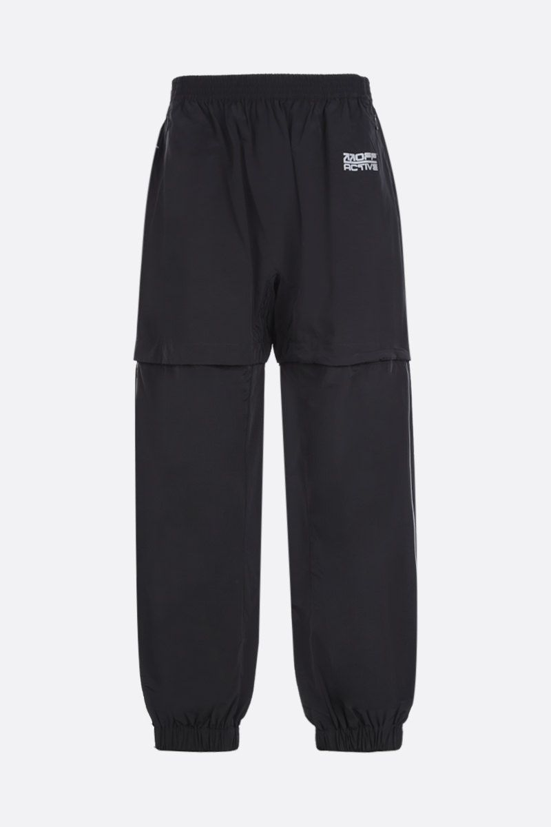 OFF WHITE: technical cotton joggers Color Black_1