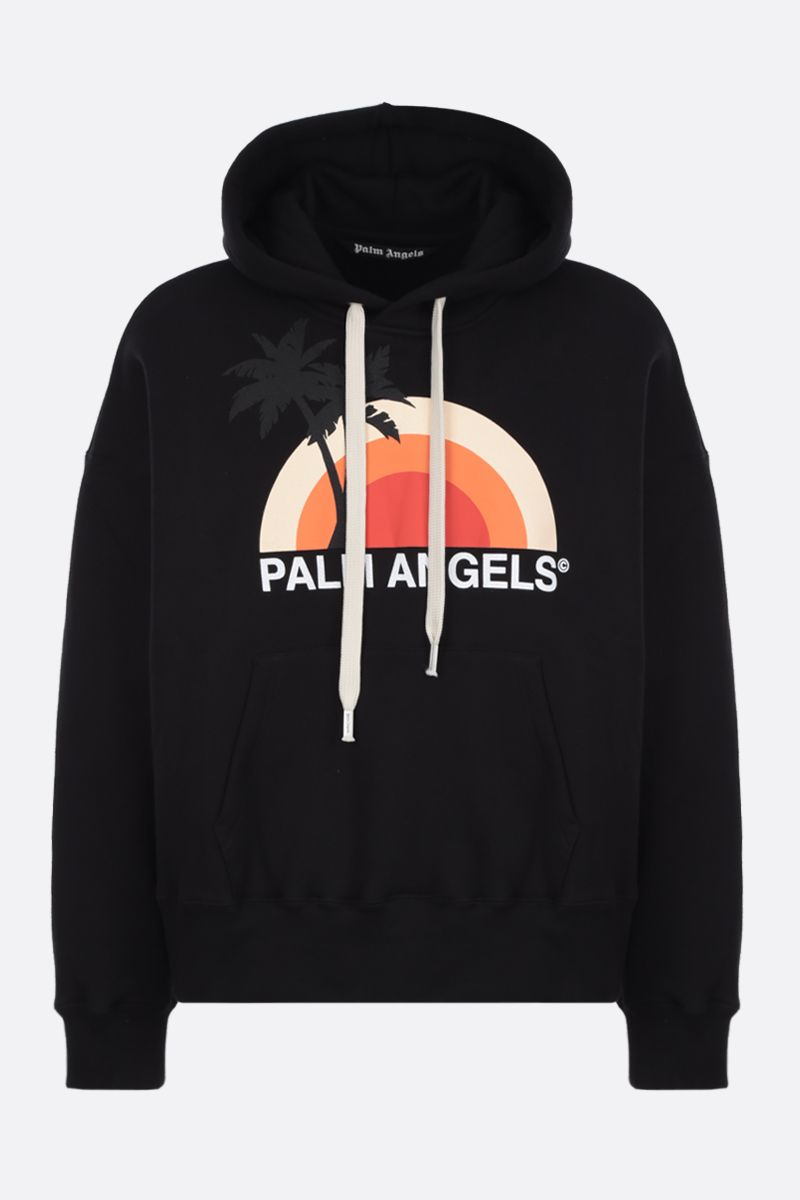 PALM ANGELS: felpa Sunset in cotone Colore Multicolore