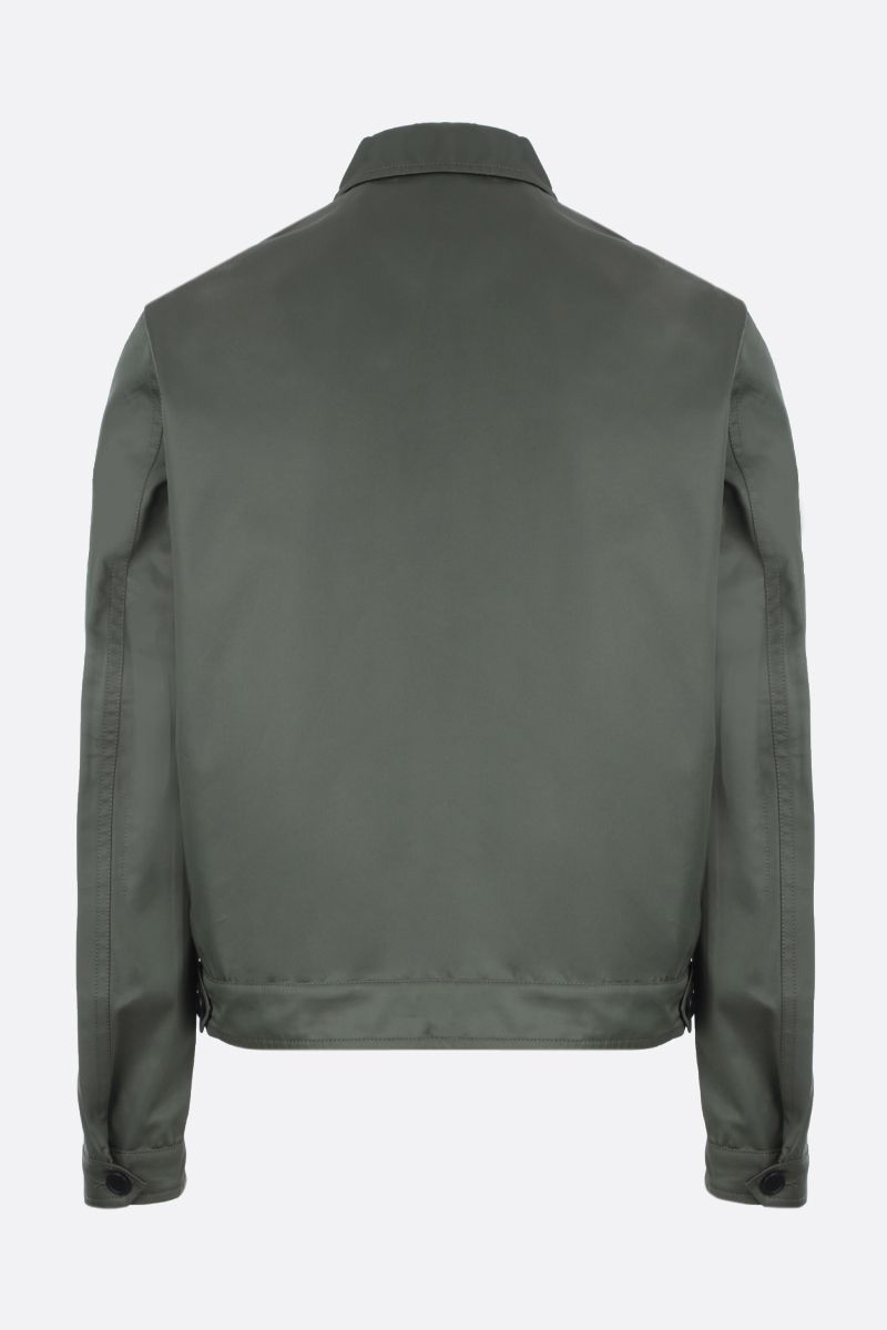 PRADA: technical cotton jacket Color Green_2