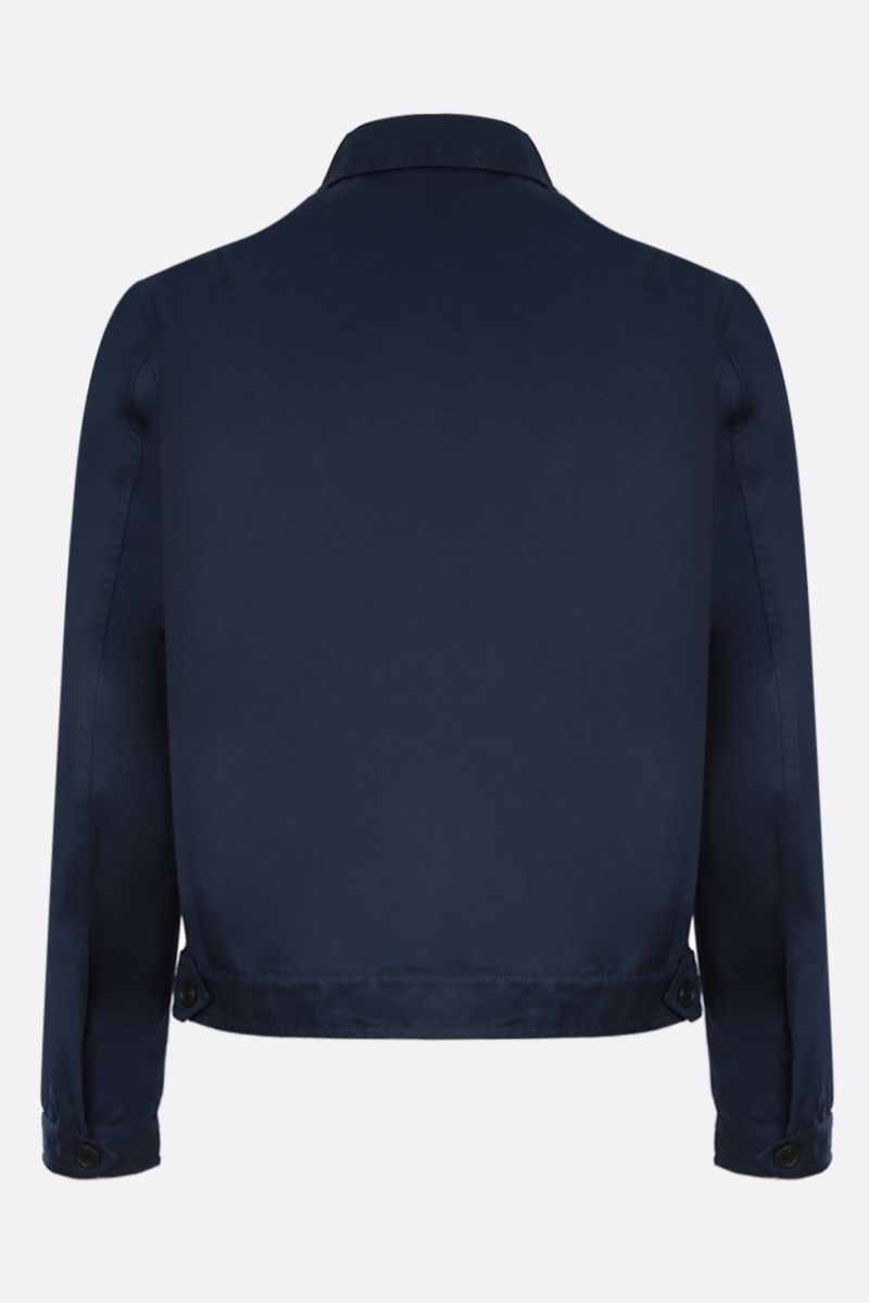 PRADA: technical cotton jacket Color Blue_3