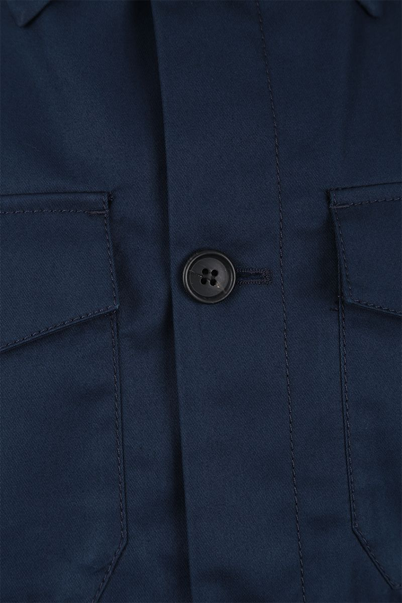 PRADA: technical cotton jacket Color Blue_4