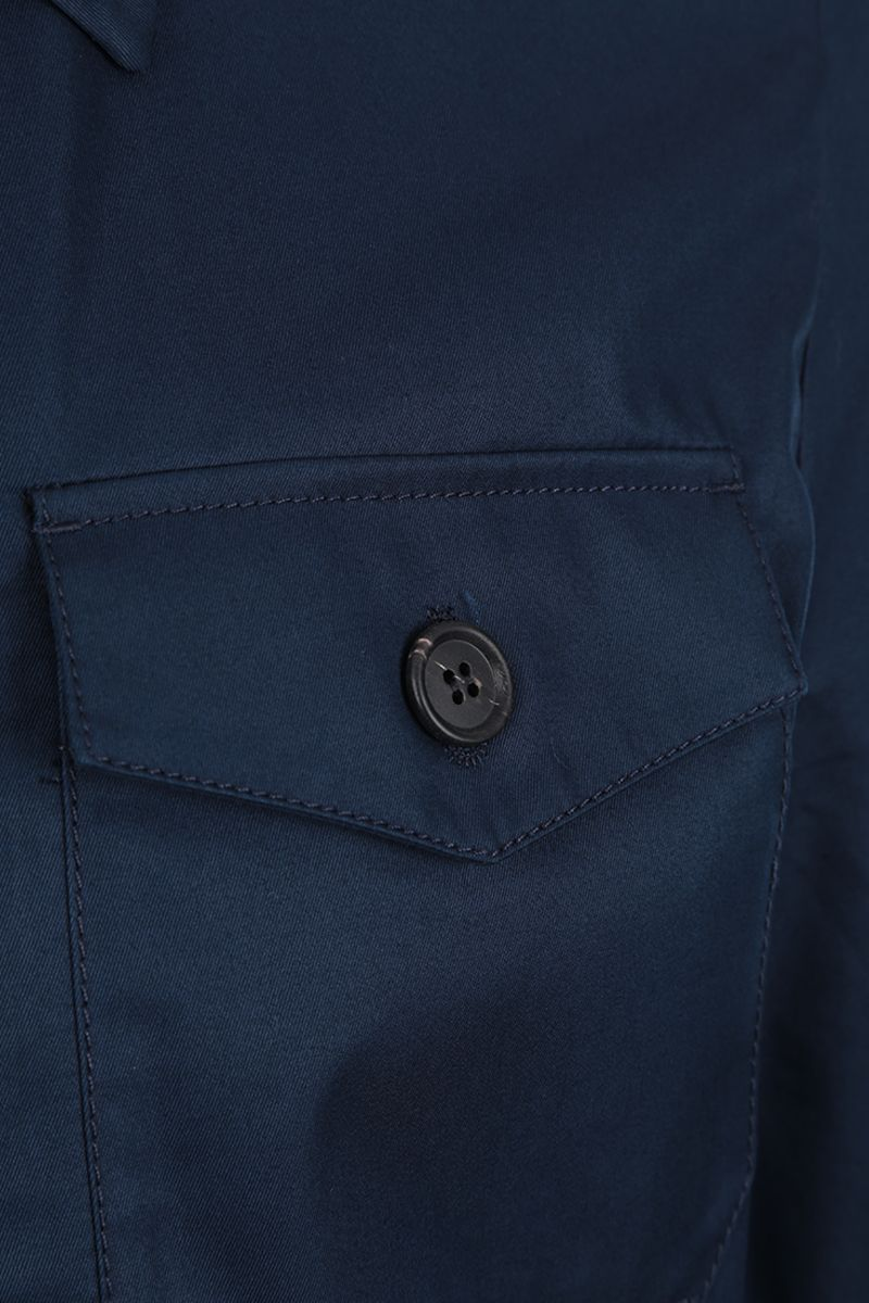 PRADA: technical cotton jacket Color Blue_5
