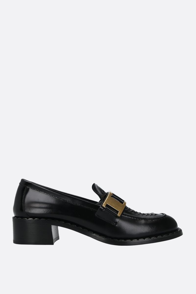 PRADA: fumè brushed calf loafers Color Black_1