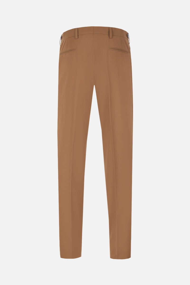 PRADA: lightweight cotton cropped pants Color Brown_2