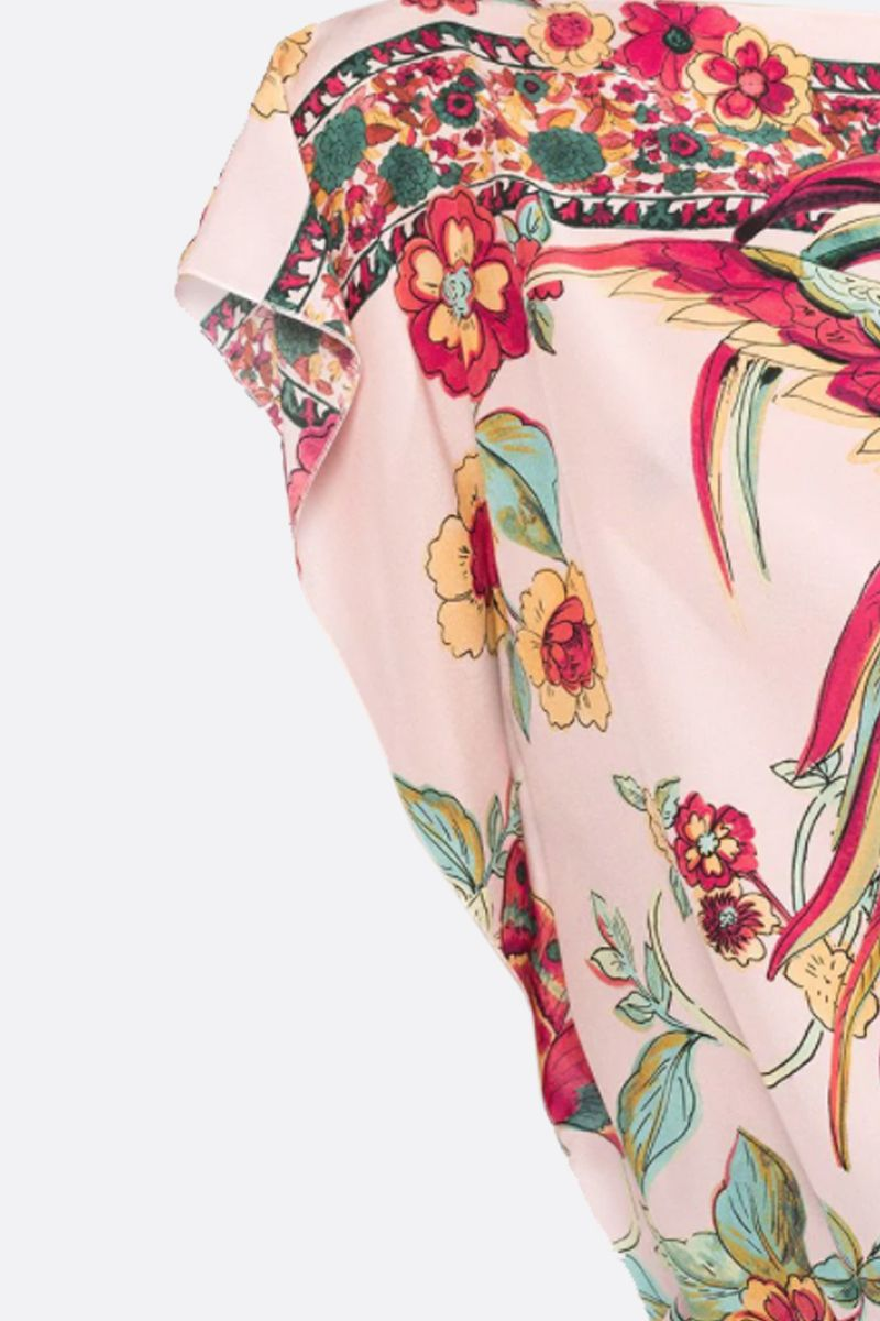 RED VALENTINO: printed crepe de chine blouse Color Neutral_2