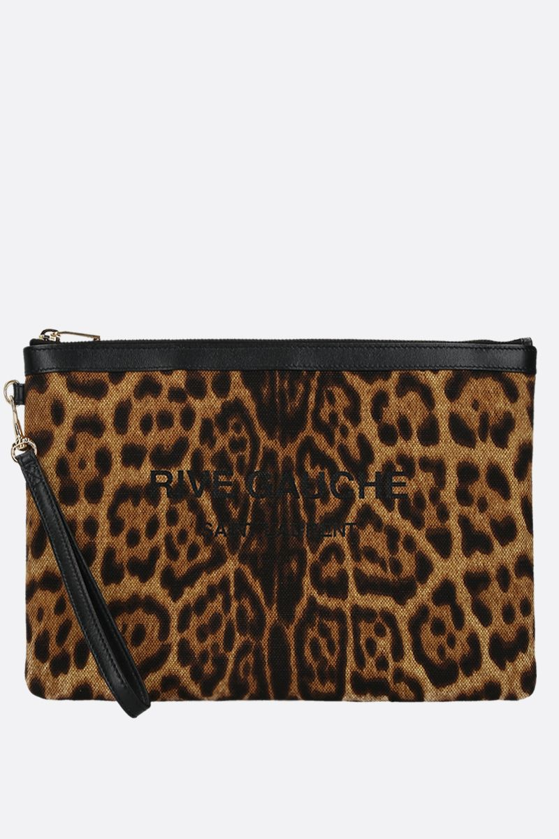 SAINT LAURENT: busta Rive Gauche in tela leopardata_1