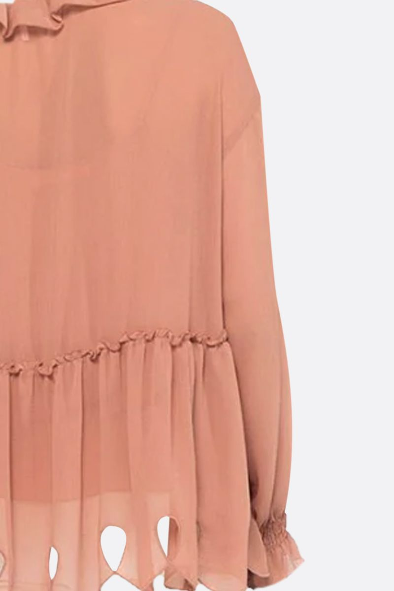 SEE BY CHLOÈ: ruches-detailed georgette blouse_2