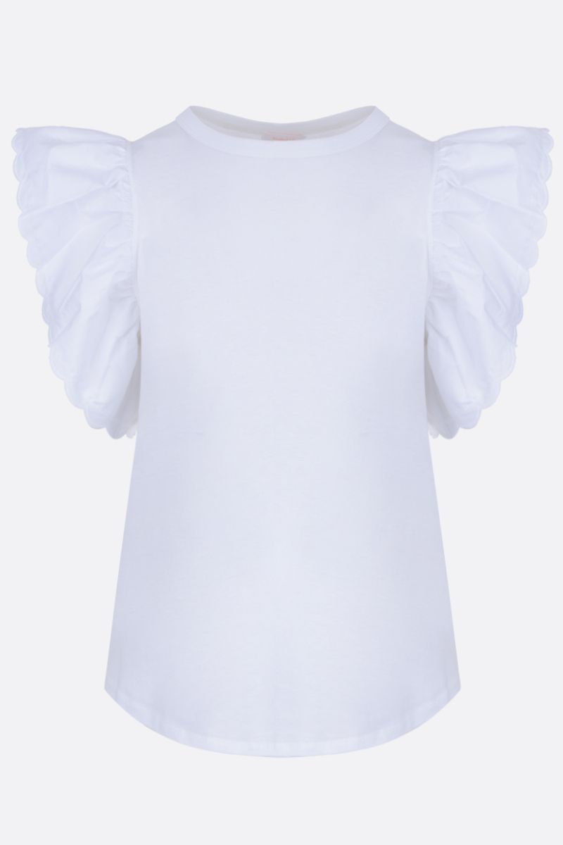 SEE BY CHLOÈ: cotton t-shirt with cap sleeves Color Neutral_1