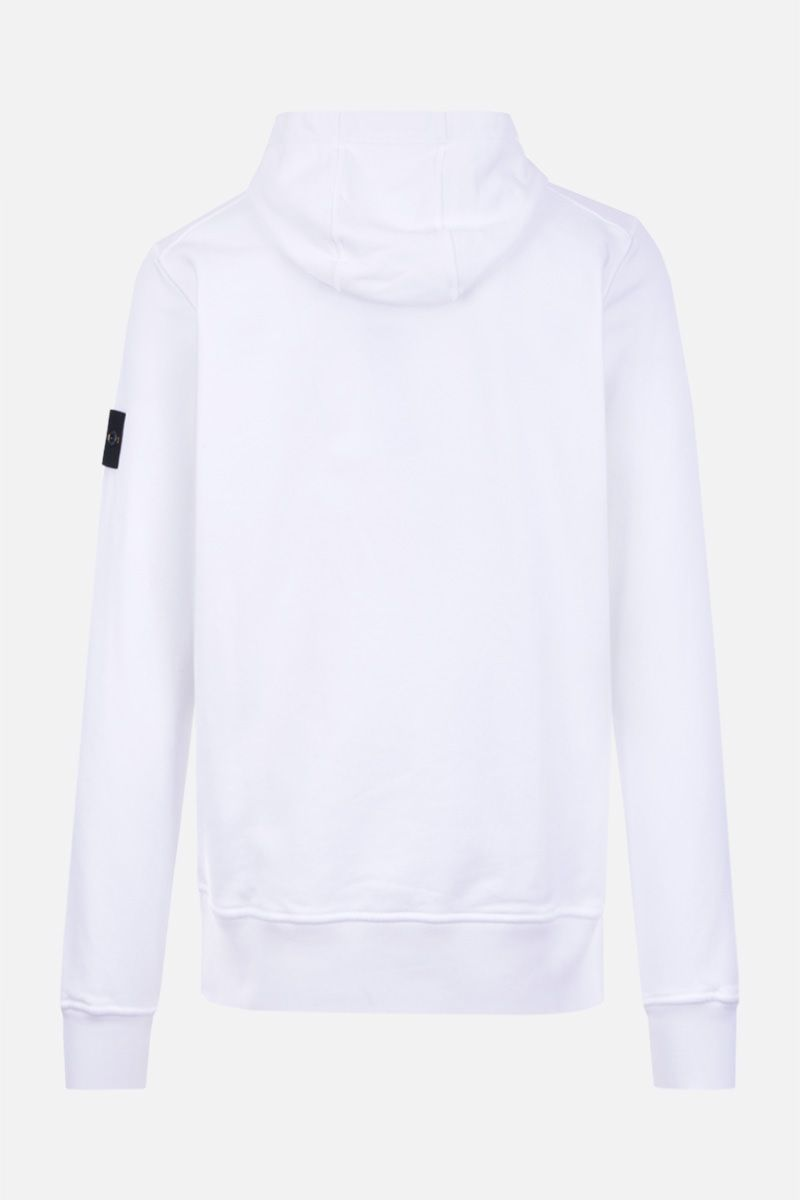 STONE ISLAND: regular-fit cotton jersey hoodie Color White_2