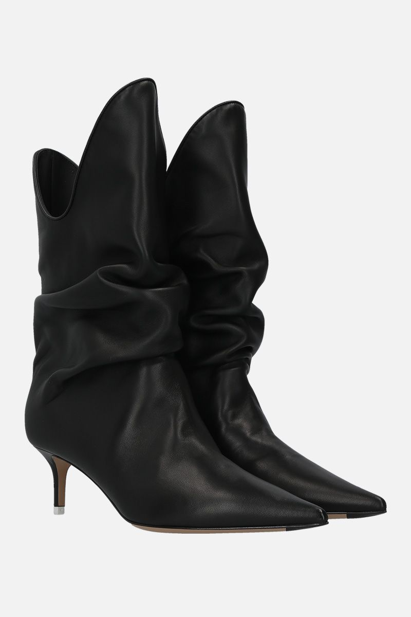 THE ATTICO: smooth leather slouchy-effect boots Color Black_2
