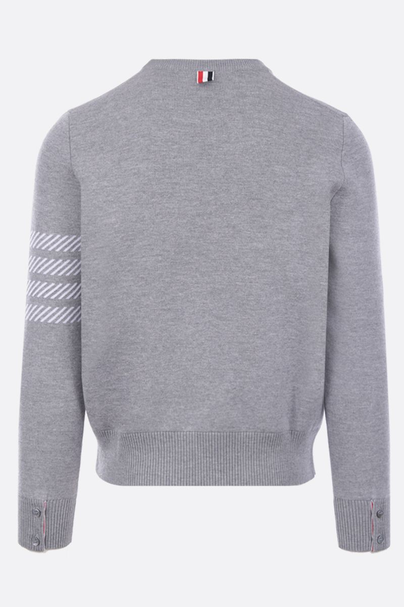 THOM BROWNE: Dolphin Icon intarsia wool blend pullover Color Grey_2