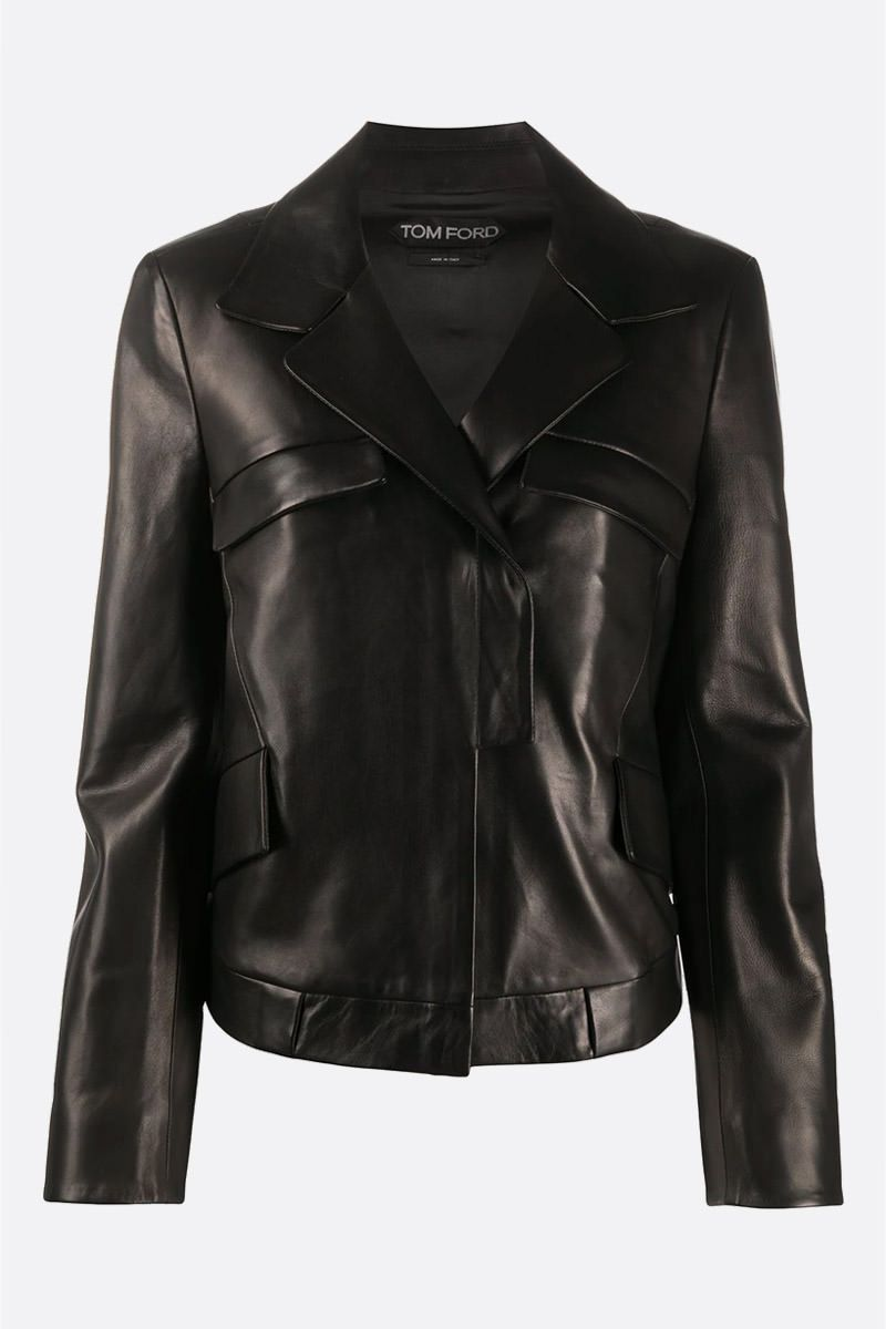 TOM FORD: leather biker jacket Color Black_1