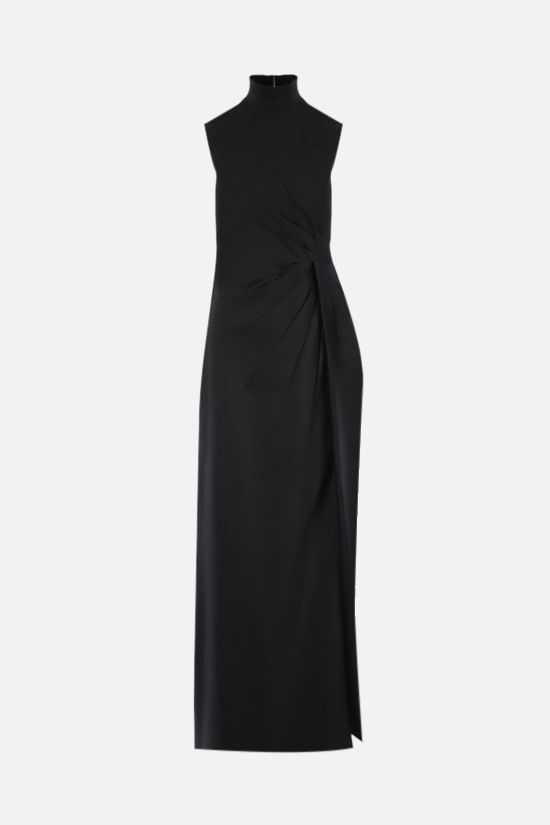 VALENTINO: draped cady evening gown Color Black_1
