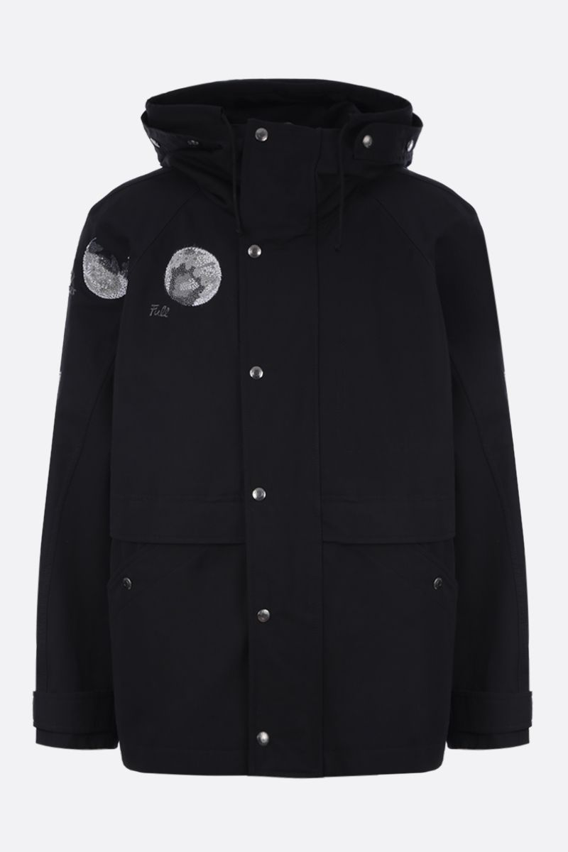 VALENTINO: Moon Dust padded parka in cotton Color Black_1