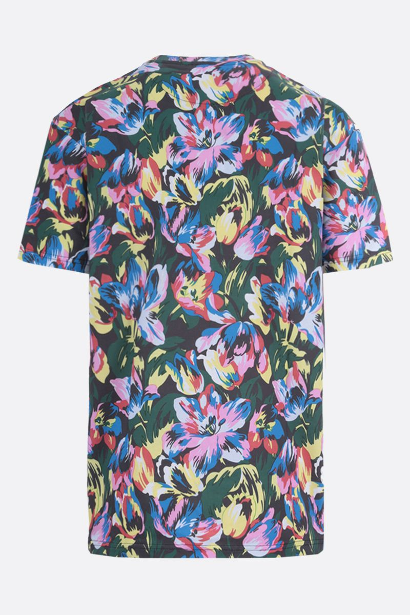 VANS X KENZO: t-shirt oversize Tulipes in cotone Colore Nero_2