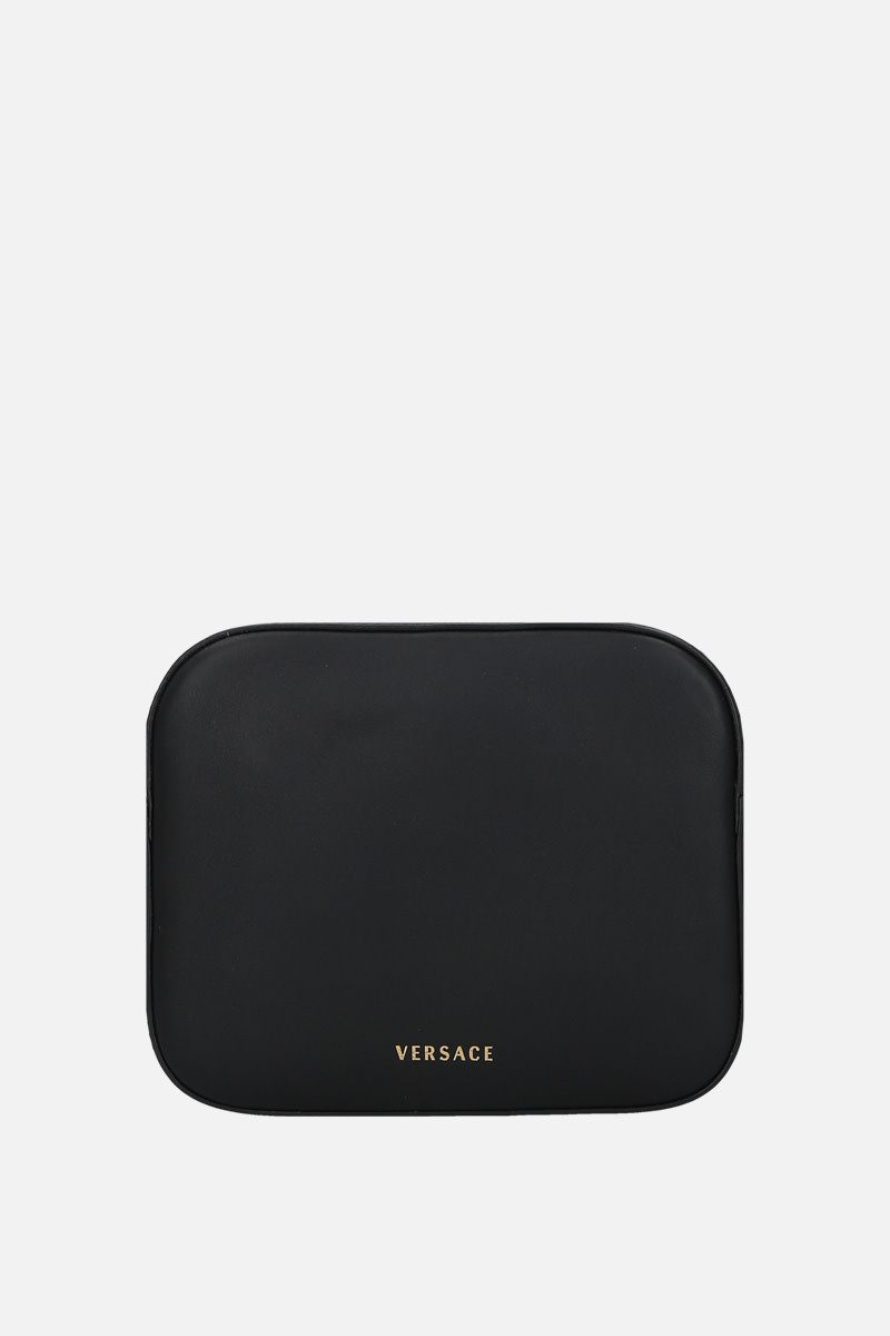 VERSACE: Virtus smooth leather camera bag Color Black_4