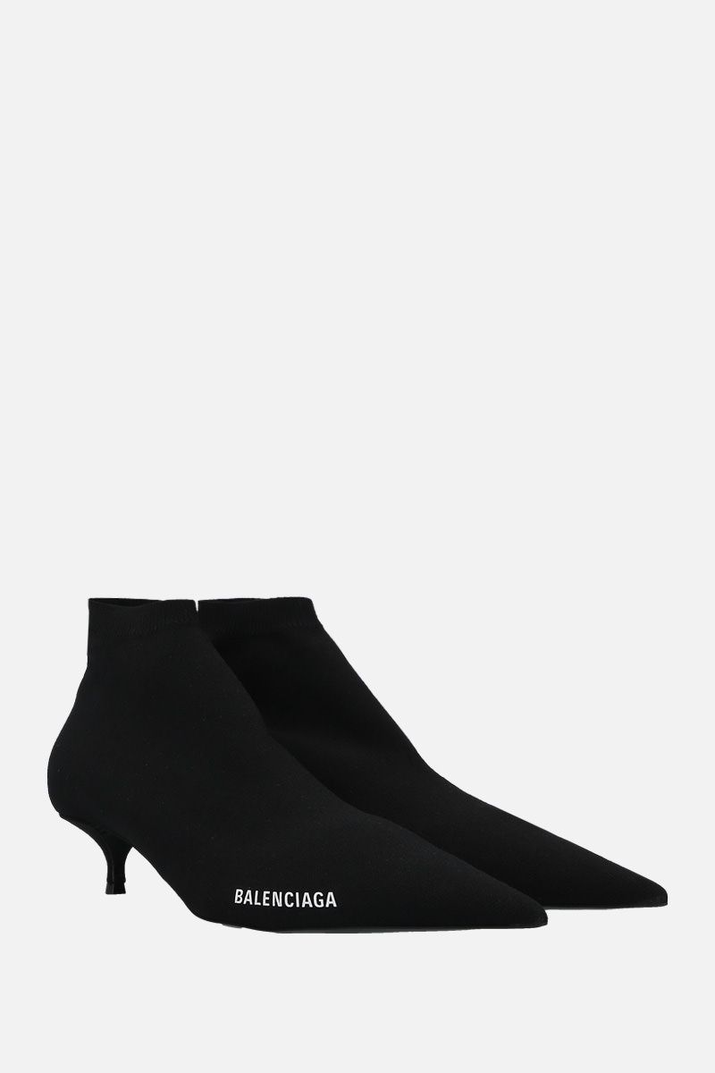 BALENCIAGA: Knife knit booties Color Black_2