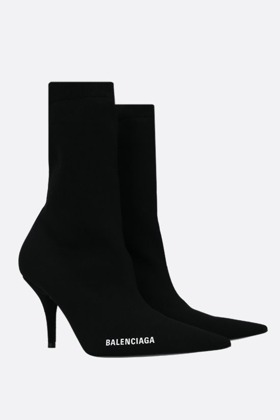 BALENCIAGA: Knife recycled knit ankle boots Color Black_2