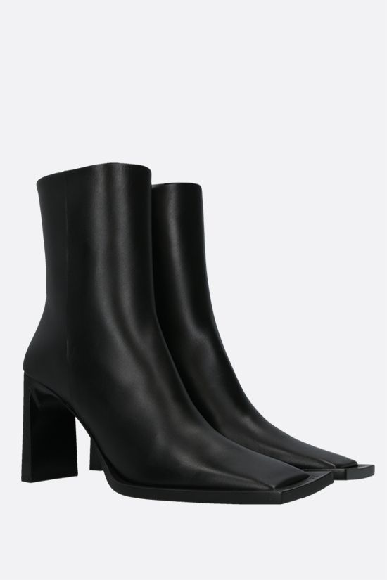 BALENCIAGA: smooth leather ankle boots Color Black_2