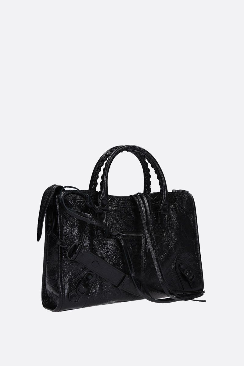 BALENCIAGA: borsa a mano Classic City mini in pelle Arena Colore Nero_2
