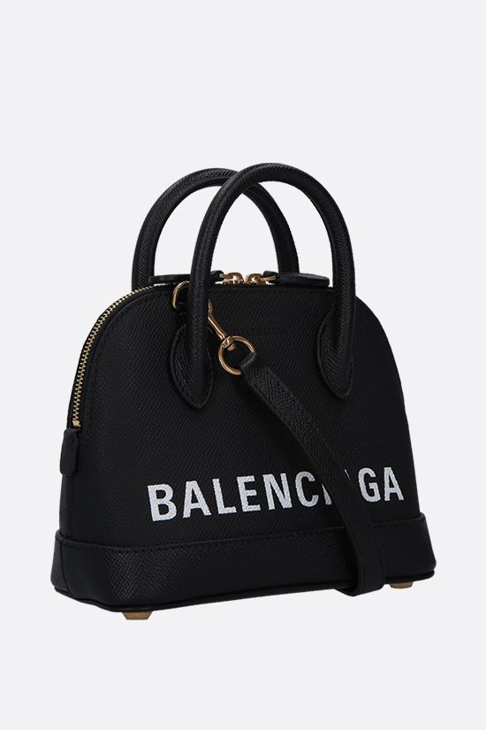 BALENCIAGA: Ville XXS grainy leather handbag Color Black_2