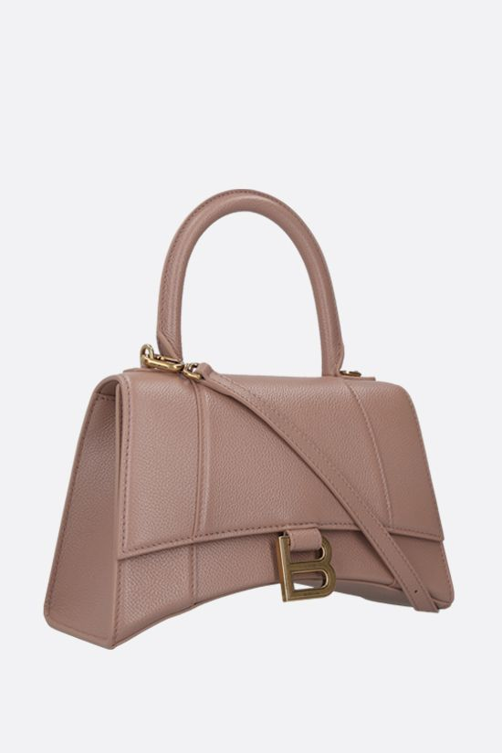 BALENCIAGA: Hourglass small grainy leather handbag Color Pink_2