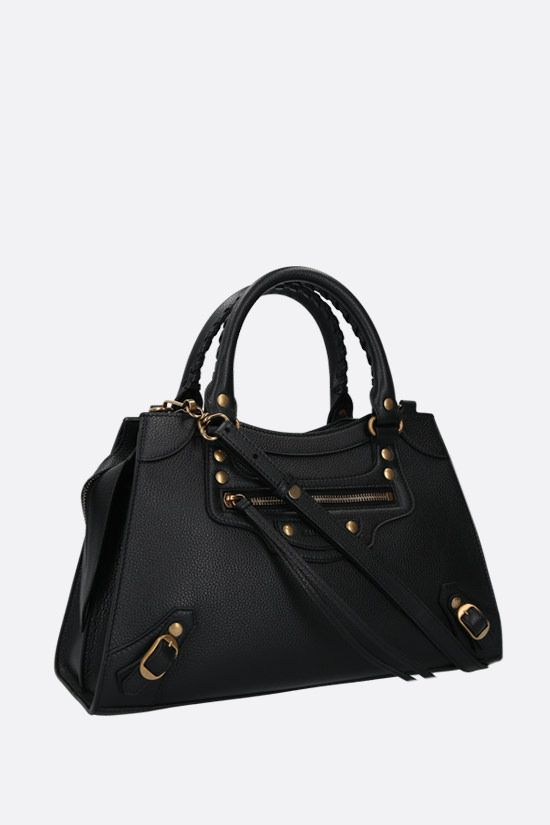BALENCIAGA: Neo Classic City S grainy leather handbag Color Black_2