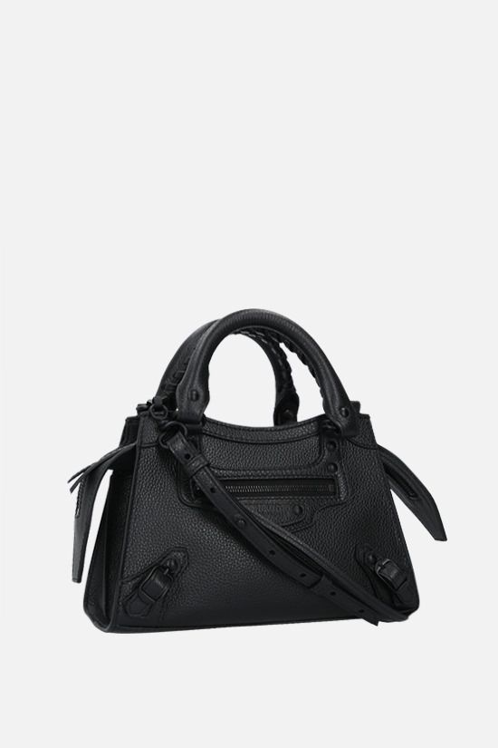 BALENCIAGA: Neo Classic City mini grainy leather handbag Color Black_2