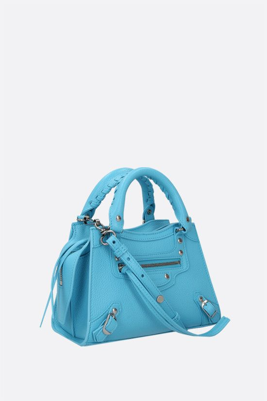 BALENCIAGA: Neo Classic City mini grainy leather handbag Color Blue_2